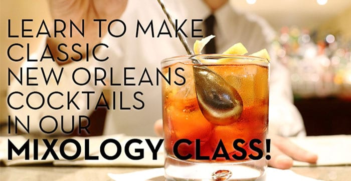 New Orleans Mixology Class at The Maison